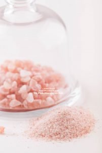 Himalayan Pink Salt crystals and powder