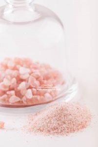 Himalayan Pink Salt crystals and powder
