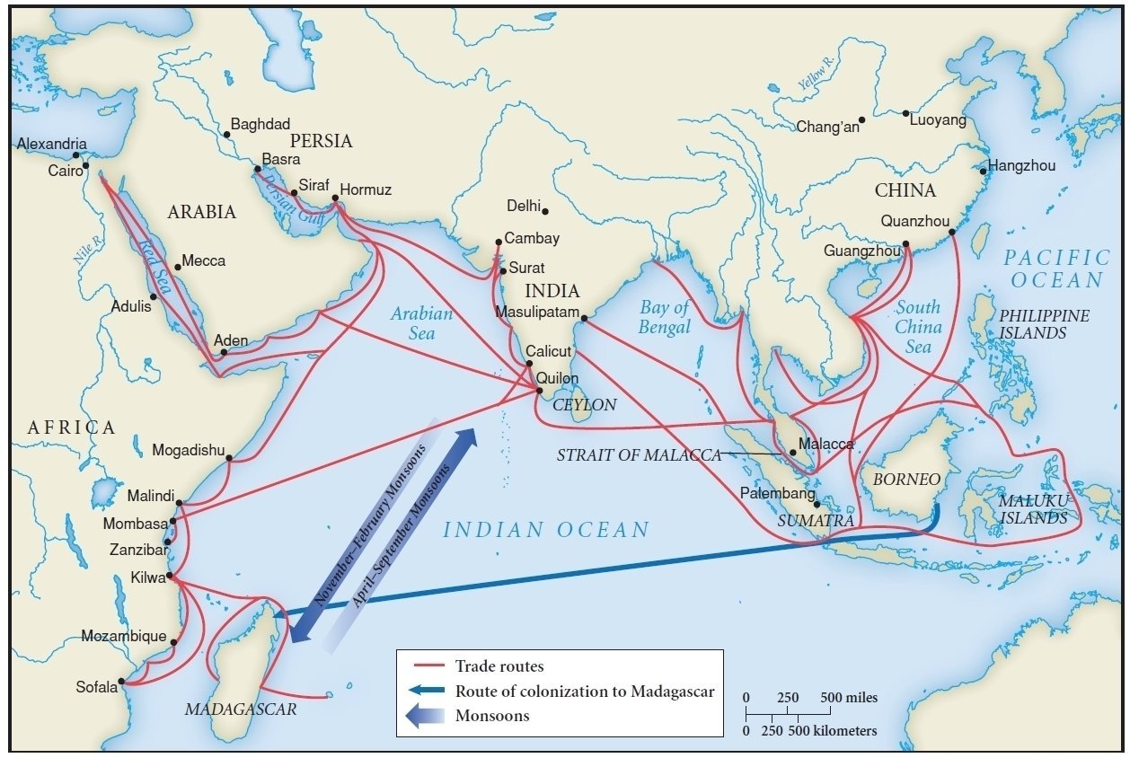 an analysis of the trans asian trade routes in the medieval era